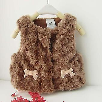 Baby Autumn Winter Waistcoat Warm Infant Imitation Fur Vest Outwear Coat For Baby Boy Girl Clothes