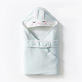 Cotton Rabbit Eye Print Baby, - Deken Swaddle, Badhanddoek