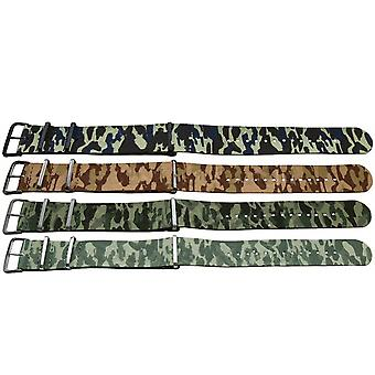 Clearance n.a.t.o zulu g10 style camouflage watch strap
