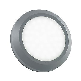 Saxby Lighting Severus - Outdoor Integrated LED Round Direct IP65 2W Grey Abs Plastic & Frosted