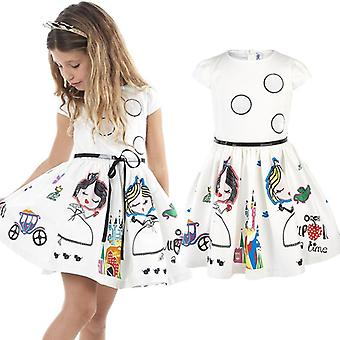 Girls Dress Kids Clothes- Summer Brand Baby With Sashes Robe Fille Character