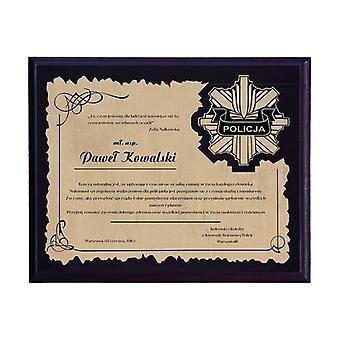 Kunststof diploma met gegraveerd laminaat