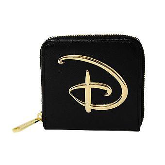 Disney Signature Logo Musta Vetoketju Kytkimen kukkaron ympärillä