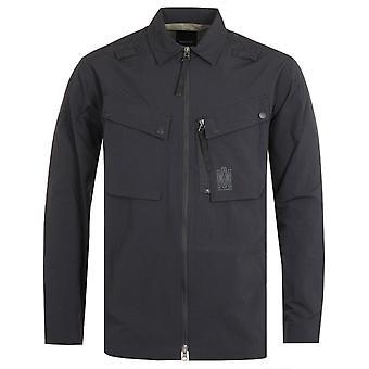 Maharishi Japanese Veg Dyed Nylon Ripstop Black Tech Cargo Shirt