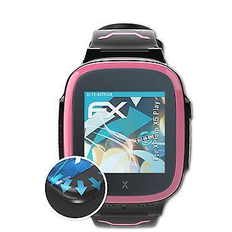 atFoliX 3x Folia ochronna kompatybilna z XPlora X5 Play Screen Protector przezroczysta i elastyczna