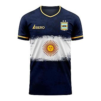 Argentinië 2020-2021 Away Concept Football Kit (Libero) - Adult Long Sleeve
