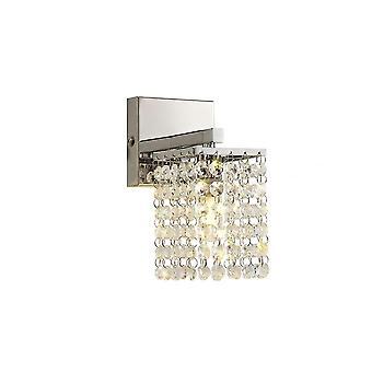 Connie Seinävalaisin, 1 X G9, Ip44, Kiillotettu Kromi/kristalli