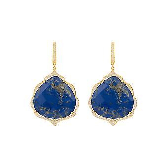Antoinette korvakorut kulta sininen Lapis Lazuli