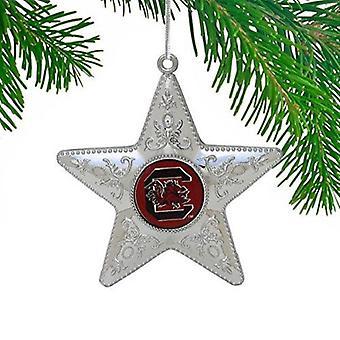 South Carolina Gamecocks NCAA Sports Collectors Series Silver Star Ornament