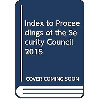 Index to proceedings of the Security Council