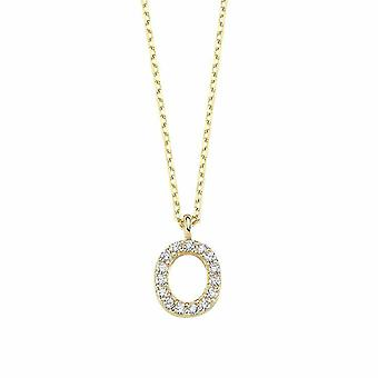 Collier d'or lettre O