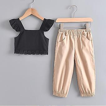 Girls Summer Sleeveless Casual Pullover And Pants