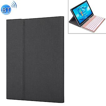 HW108A Detachable Magnetic Colorful Backlight Plastic Bluetooth Keyboard + Silk Pattern TPU Protective Cover for Huawei MediaPad M5 10.8 Pro / 10.8, w