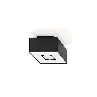 Mono Ceiling Light Black & White Steel 1 Bulb