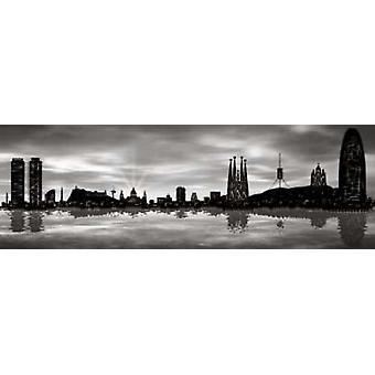 Skyline von Barcelona 04 Poster Print von Jose Ferriz