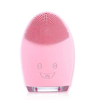 Mini Electric Facial Cleansing, Massage Waterproof Silicone Brush