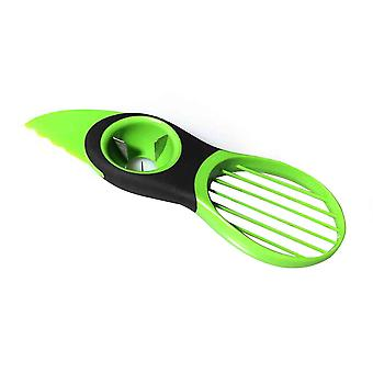 3 En 1 trancheur d'avocat Peeler Cutter Tools Fruit Splitter Kitchen Gadget Vert
