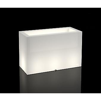 Weißer Blumentopf mit LED-Beleuchtung