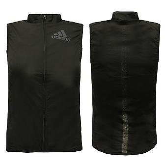 Adidas AdiZero Lichtgewicht Zip Up Nylon Spandex Jacket Vest Dames B53765 A40E