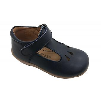 PETASIL Tbar Shoe With Cut Out Detail Navy Blue