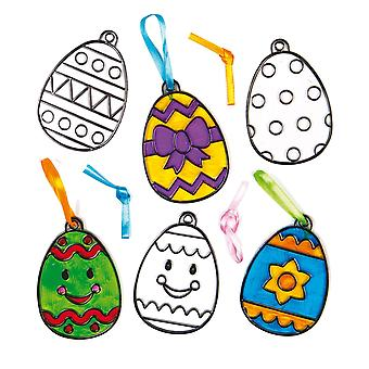 Easter egg acrilico suncatcher appeso finestra decorazione kit per i bambini da dipingere - mestiere creativo s