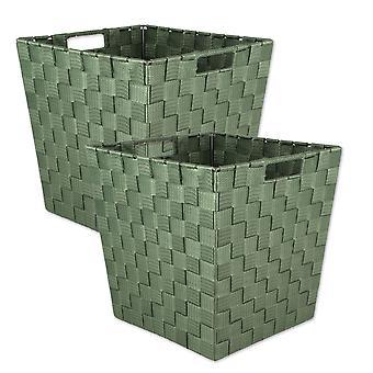 Trapezio d'oliva Dii Nylon Bin Basketweave (Set di 2)