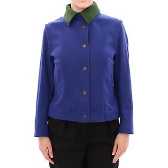Habsburg blue green wool jacket coat