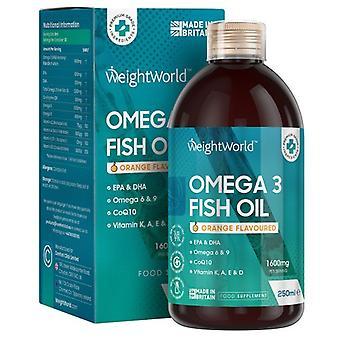 Omega 3 Fish Oil - Natural Food Supplement- 250 ml