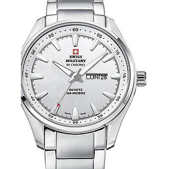 Reloj masculino militar suizo por Chrono SM34027.02, cuarzo, 44 mm, 10ATM