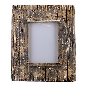 5 X 7 Horizontal Frame With Weathered Details, Brown