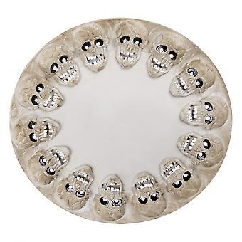 Tray Skulls 38 X 40 Cm Grey
