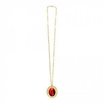 Necklace Ruby Women's Acrylic Gold / Red One-Size