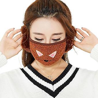 Cartoon Winter warme Earmuffs Plus Maske/Jungen