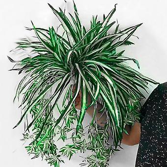 Keinotekoiset kukat kasvit, Seinä roikkuu, Klorofytum ruukku vihreä Pvc Fake