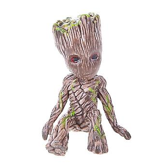 Baby Groot Flower Pot Planter Action Figures Toy Tree Man