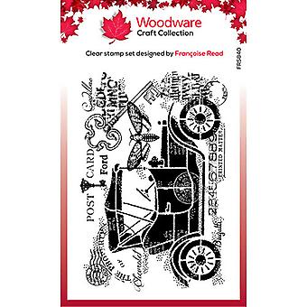 Woodware Clear Stamps - Solteros - Vintage Car