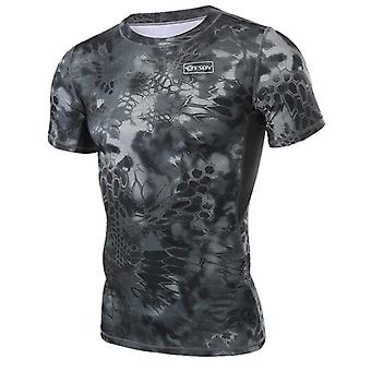 Taktinen T-paita Lyhyt, Anti-uv Perspiration Outdoor Sport Tranning shirt