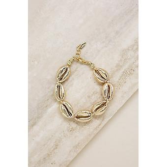 Seven Seas 18k Gold Plated Shell Bracelet