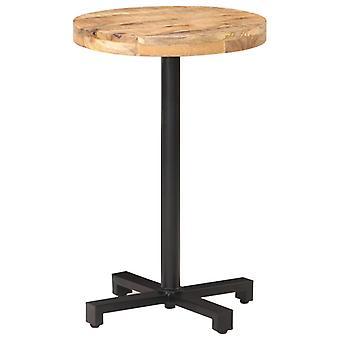 Bistro Table Round 脴50x75 Cm Rough Mango Wood