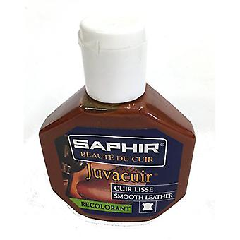 Saphir Beaute du Cuir Juvacuir Smooth Leather Recolorant and Renovator 75ml-Cognac