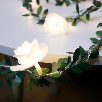Rose Fairy String Lights Led Flower Garland Battery Usb Wedding Valentine's Day