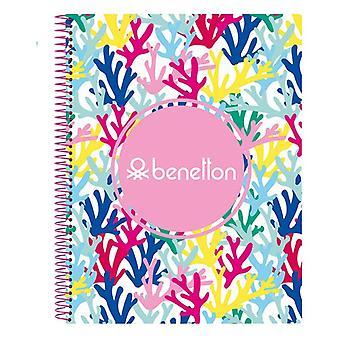 Blocco note Benetton Coralli Multicolor Pink A4