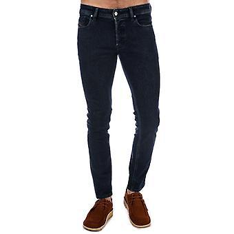 Men's Diesel Sleenker Skinny Jeans in Blau