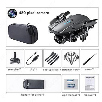 Mini drone 4k 1080p hd dual cameras wifi fpv air pressure altitude hold black and gray foldable quadcopter with camera rc dron