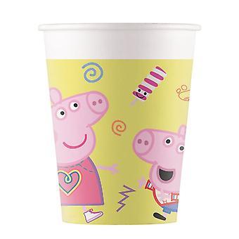 8 Gobelets en carton Peppa Pig 200 ml