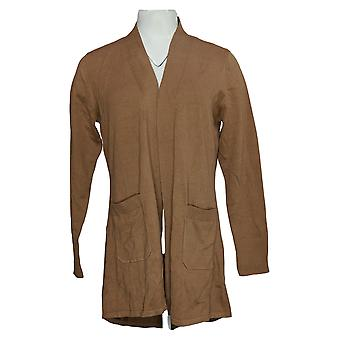 Isaac Mizrahi En direct! Women's Sweater Hi-Low Hem Brown A392229