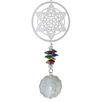 windspinner Magic Mandala 40 cm Glas silber