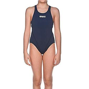 Arena Solid Swim Tech Maillot de bain Filles Junior Open Back Athletic Swimming Costume