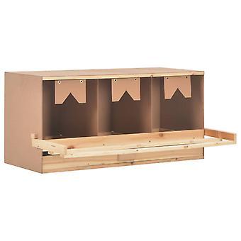 vidaXL Legenest Chicken Nest 3 compartments 96 x 40 x 45 cm solid wood pine