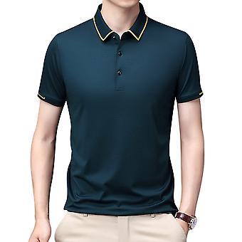 YANGFAN Herren Einfarbige T-Shirts Shirt Kurzarm Revers Top